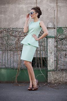 you can Win this Peplum dress and the Caramel Heels. http://www.facebook.com/DivaHair.ro/app_143743959088739. I have to tell you that i was inspired by Audrey Hepburn's style for this look,