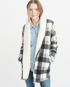 Womens Sherpa-Lined Cardigan | Womens Best of Sale | Abercrombie.com