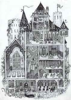 Hogwarts cross-section by Soni Alcorn-Hender!