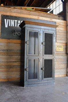 Vintage Industrial Armoire | Vintage Industrial Furniture