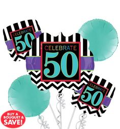 Celebrate 50th Birthday Party Supplies - 50th Birthday - Party City