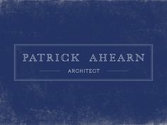 Patrick Ahearn by Oat , via Behance