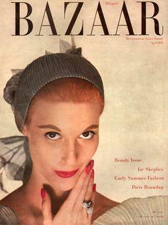 Harper's Bazaar April 1952 - model Mary Jane Russell