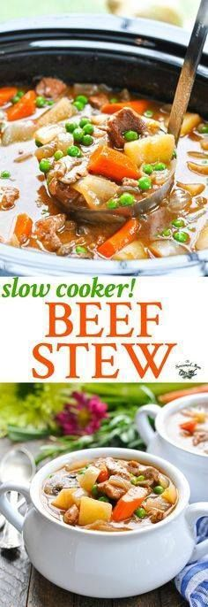 This classic Farmhou This classic Farmhouse Slow Cooker Beef... This classic Farmhou This classic Farmhouse Slow Cooker Beef Stew is an easy one pot meal that simmers on the counter all day while you go about your busy schedule! Slow Cooker Recipes Healthy | Beef Recipes | Easy Dinner Recipes | Healthy Dinner Ideas #beef #slowcooker #dinner http://ift.tt/2xZc5dT Recipe : http://ift.tt/1hGiZgA And @ItsNutella http://ift.tt/2v8iUYW