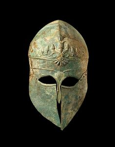 Corinthian Helmet - Greek 495 BC - Bronze | MFAH | The Museum of Fine Arts, Houston