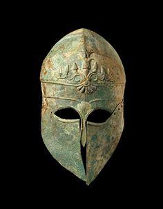 Corinthian Helmet - Greek 495 BC - Bronze   MFAH   The Museum of Fine Arts, Houston