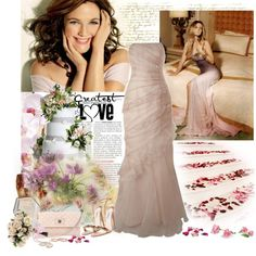 Drew Barrymore, created by cohan on Polyvore.  Love the dresses.