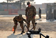 How Bagram's robotic shop impacts the mission - 514th MP's receive standard robot operator's familiarization course.