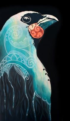 Grey Ghost Sofia Minson Oil Painting New Zealand Artwork Polynesian Art, Maori Designs, New Zealand Art, Jr Art, Maori Art, Kiwiana, Art For Art Sake, Illustrations, Bird Illustration