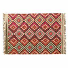 Tapis tressé en laine multicolore 160 x 230 cm ACAPULCO | Maisons du Monde