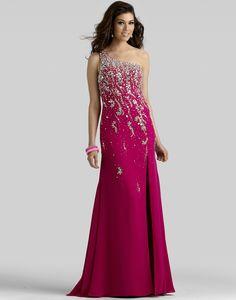 Style 2105, Promgirl.net #Clarisse #rasberry #sparkle