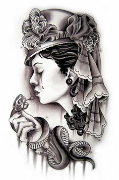 neo traditional tattoo  -Minus the snake, I love this tattoo