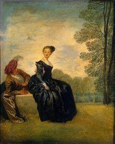 Antoine Watteau - ca. 1718, La Boudeuse. Oil on canvas, 42x34 cm.