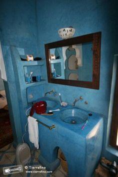 Bathroom Tadelakt blue