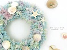 Little Mermaid Wreath(2) ~人魚姫の花冠~ 25cm - AJU PLANTS DECO