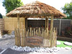 Outdoor thatched Gazebo with Seating Perfect for Al Fresco