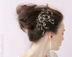 Peigne mariage perles délicates