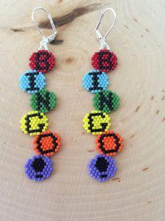 Seed Delica Beaded Earrings Bingo by Bead4Fun on Etsy