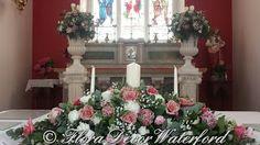 Flora Decor Wedding & Events Flowers Waterford : Louise and John's Faithlegg Church Wedding, Co Waterford. Wedding Decorations, Decor Wedding, Table Decorations, St Nicholas Church, Church Wedding, Wedding Events, Flora, Christmas Tree, Holiday Decor