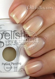 "Gelish colors ""Bashful"" - Would love to find a salon that had this!!!! Perfectly Natural!!!"