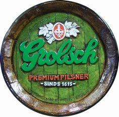 Grolsch bier vat fustdeksel 38 cm