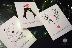 abigailhausman is an independent artist creating amazing designs for great products such as t-shirts, stickers, posters, and phone cases. Minimalist Christmas, Diy Christmas Cards, Diy Cards, Diy For Kids, Greeting Cards, Graphic Design, Yule, Minimal Christmas, Handmade Cards