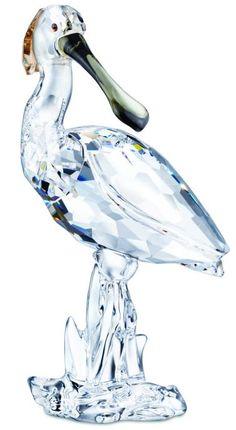 Swarovski Crystal Spoonbill, Sign by Designer - SALE.  Swarovski Crystal Figurine.