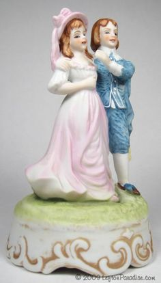 Pinky and Blue Boy Lamps | ... - View Item : Pinkie and Blue Boy Musical Figurine!, Figurines