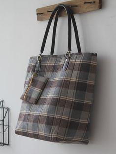 Handmade Check fabric Bag