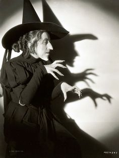 Margaret Hamilton; wardrobe still from The Wizard Of Oz (1939); photo by Virgil Apger for MGM.