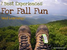 Who's ready for fall? 7 Best Experiences for Fall Fun (and Learning) Seasons Activities, Autumn Activities For Kids, Outdoor Fun For Kids, Fall Projects, Family Traditions, Happy Fall, Fun Learning, Fall Halloween, Cool Kids