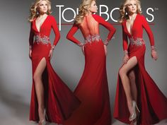 Tony Bowls Collection Style 213C31  - Long Sleeve Evening Gown, Formal Wear, Prom Dress.