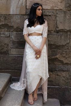 Bridesmaid outfit idea you love to have - AwesomeLifestyleFashion Shimmery Black Gown With Jacket What a lovely Outfit to. Indian Gowns Dresses, Indian Fashion Dresses, Dress Indian Style, Indian Designer Outfits, Fashion Outfits, Designer Party Wear Dresses, Kurti Designs Party Wear, Lehenga Designs, Stylish Dress Designs