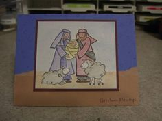 Baby Jesus is Born - watercolored