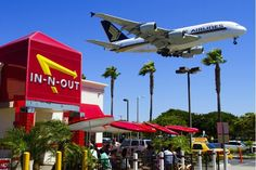 A380, LAX ~ two of my favorite things...flying and In N Out Burgers : - )