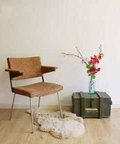 Vintage Gispen stoel /1265,design Cordemeijer - Soekis