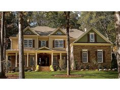 Floor Plan AFLFPW07525 is a beautiful 3312 square foot + Greek Revival  home design with 3 Garage Bays