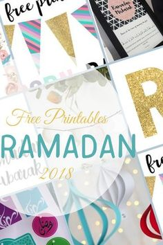 Ramadan Decoration Printable 2018, Ramadan Gift tags, Ramadan Garland, Ramadan table decor, Ramadan fasting Dua