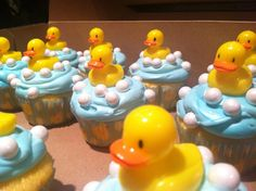 Rubber Ducky Baby Shower Ideas | Cupcakes for rubber duckie themed baby shower! | Baby Shower Ideas