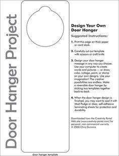 264 best door hanger template images on pinterest blue prints