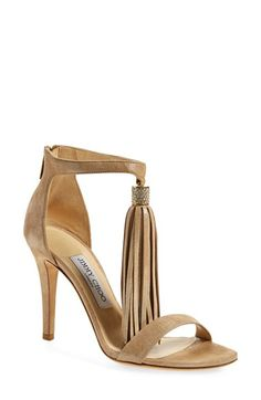 Free shipping and returns on Jimmy Choo 'Viola' Ankle Strap Sandal (Women) at Nordstrom.com. A long tassel swishes and sways from the ankle strap of a tallstiletto-lifted sandal. A brushed goldtonefinish and sparkling crystalsrefinethe glamorous look.