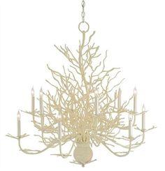 Seaward Chandelier (paint my coral chandelier creamy color)
