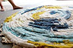 Coil Rug - Meagan Bilecky - minus the crochet edge.