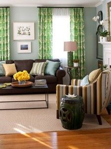 bhg brown with blue and green living room