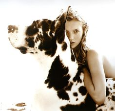 Bonito, Grandanés con Kate Miss. Photo by Herb Ritts: Kate Moss, Danziger Projects. Richard Gere, Kate Moss, Dog Love, Puppy Love, Jean Paul Goude, Fotojournalismus, Harlequin Great Danes, Herb Ritts, Bruce Weber
