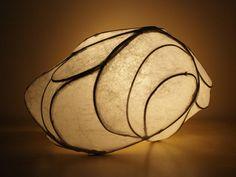 Echo - handmade light sculpture art lamp by Simcoe artist Joanne Rich