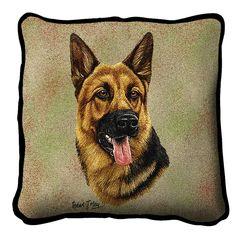 German Shepherd II Dog Portrait Pillow