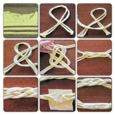 Easiest pin I've found to tie an infinity knot headband