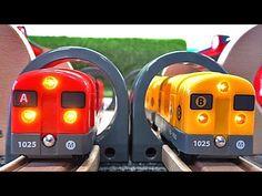 Wooden Thomas & Brio Two Tunnel Subway Railway toys video for chldren - YouTube
