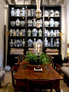Why Bunny Williams' Husband Hates Me - laurel home | extraordinary collection of fine blue and white Chinoiserie porcelains at John Roselli Antiques